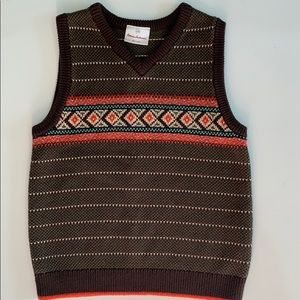 Hanna Andersson Sweater Vest Boy 120, 6/7 LIKE NEW